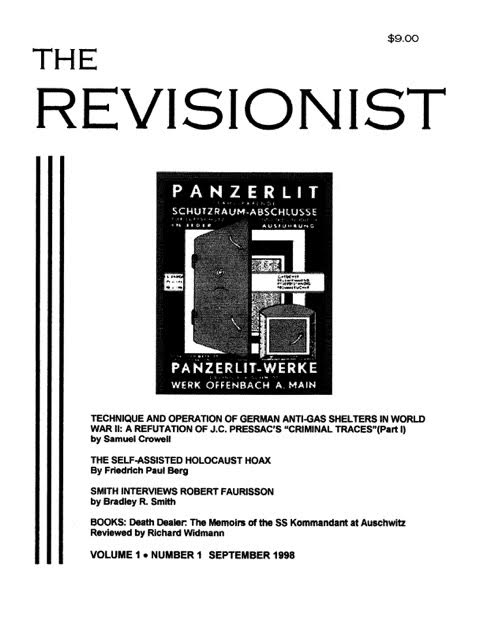 Second prototype cover for The Revisionist