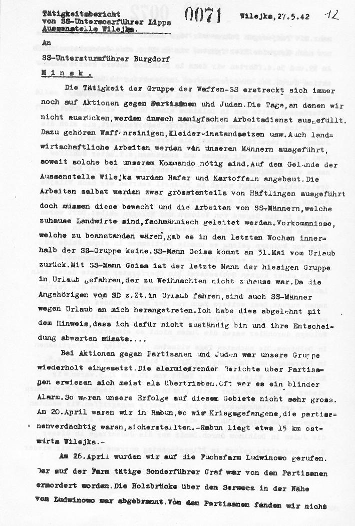 First page of the Gruppe Lipps Report