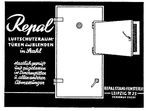 Repal Air Raid Shelter Door Ad