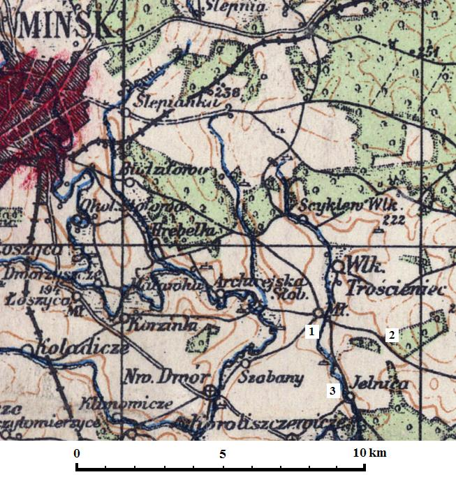 Maly Trostenets map