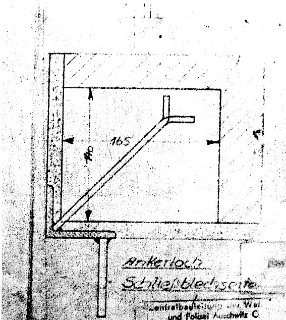 Blueprint of the wall anchor